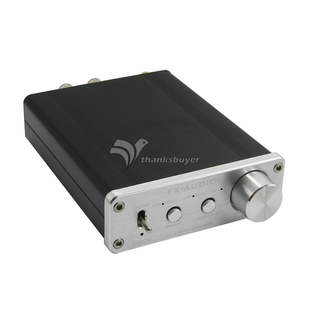 все цены на  D302 Digital Amplifier 30W+30W 192k Coaxial Optical Fiber USB Sound Card Surpass TA2024 TA2021 Silvery (Power Supply Included)  онлайн