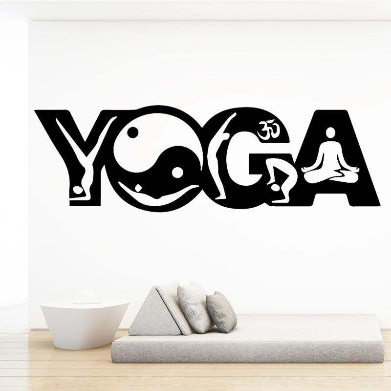 Cute Yoga Waterproof Wall Stickers Wall Art Decor For Kids Room Living Room Home