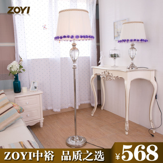 ZOYI Simple Crystal Standing Lamp IKEA Living Room Floor Lamp Bedroom Lamp  Simple Modern Fashion Continental