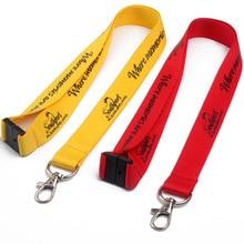 200 sztuk/partia 2x90 cm niestandardowa smycz, dostosowane logo sitodruku smycz, OEM marka dostosowane na szyję smycze na klucze pasek na szyję na telefon