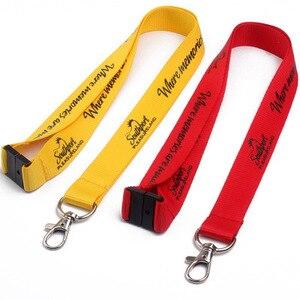 Image 1 - 200 teile/los 2x90 cm nach lanyard, angepasst logo siebdruck lanyard, OEM marke individuelle lanyards für tasten telefon neck strap