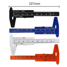 80mm mini plástico deslizante vernier caliper calibre medida ferramenta régua micrômetro