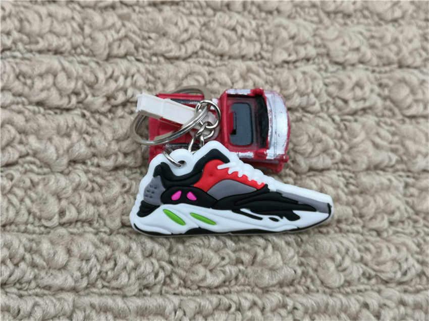 Yeni Renk Mini Silikon Çizme 700 Ayakkabı Anahtarlık Spor Ayakkabı 700 DALGA KOŞUCU Anahtarlık Kadın çanta uğuru Erkek Çocuklar Anahtarlık hediyeler