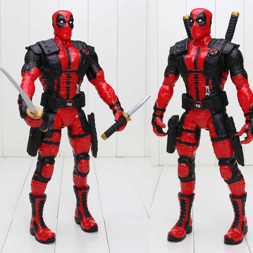 33 cm Mutantes anti-hero hero Deadpool Wade Winston Wilson Arma X Deadpool PVC Action Figure Collectible Modelo Toy
