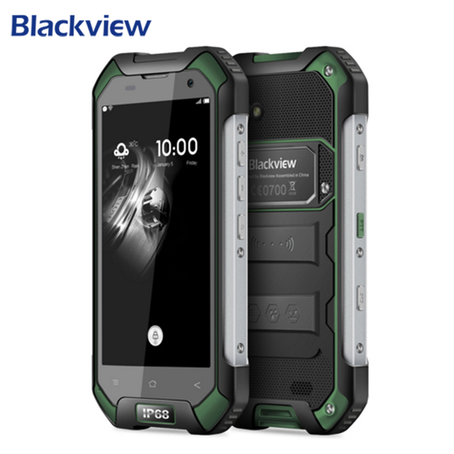 Blackview bv6000 impermeable teléfono móvil 13mp cam 4.7 pulgadas hd mt6755 Octa Core 4G Android 6.0 3 GB RAM 32 GB ROM OTG Smartphone
