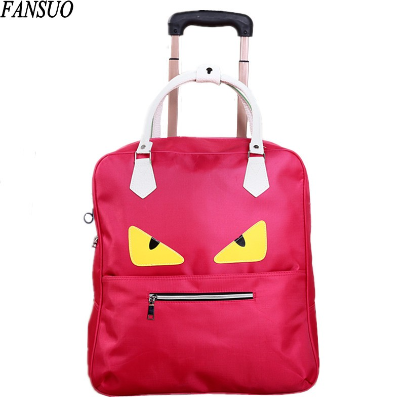 ФОТО New Arrival Little Monster Fashion Luggage Trolley Bag Large Capacity Suitcase Travel Bag High Quality Waterproof Duffle Bag