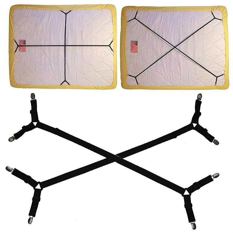Bed Sheet Fastener Adjustable Holder Straps for a Smooth Mattress, Mattress Pad Duvet Cover Corner E