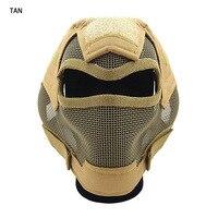 Militar V7 Final Cinco Cores Design de Malha de Aço Máscara De Malha De Arame de Aço Para O Jogo Tático gs9-0054