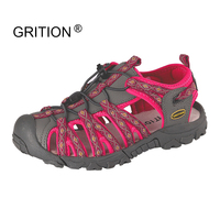 GRITION Women Summer Outdoor Sandals Quick Dry Protective Toecap Sport Walking Shoes Large Size Zapatos Mujer