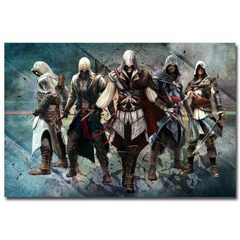 Шелковый Плакат Гобелен Кредо Убийцы Assassins Creed вариант 2