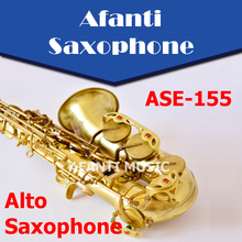Afanti Music Eb tone / Brass body / Glod finish Alto Saxophone (ASE-155)