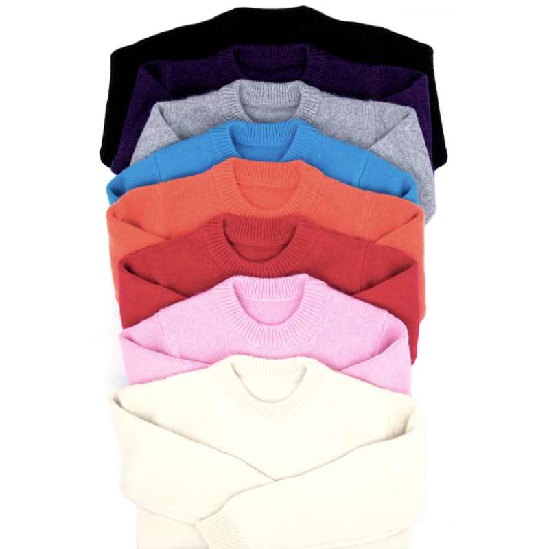 Children's Clothing Sweaters Base Layer Cashmere Warm Multicolor Kids Pullovers Crewneck Sweater for Boy Girl 9378