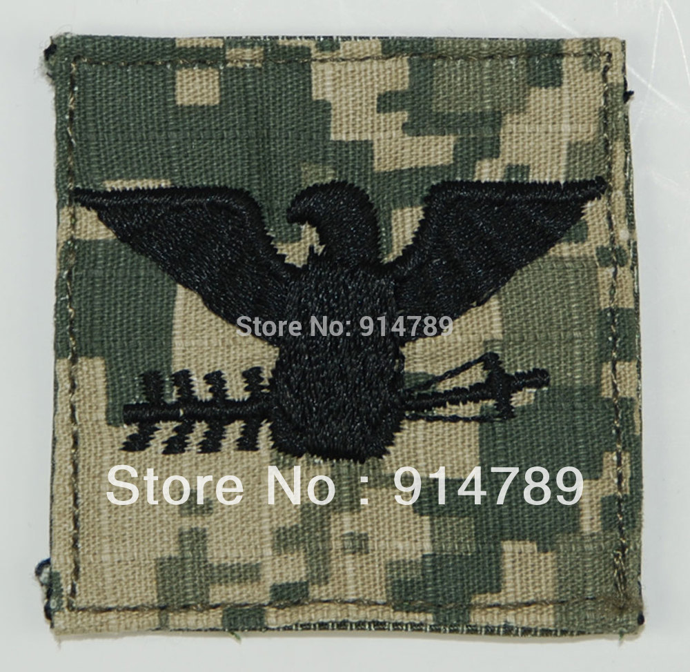 US ARMY ACU RANK O-6 COLONEL  UNIFORM PATCH-32652
