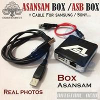 2018 новые vesion коробка ASB/адаптер asan sam для samsung flash & разблокировать, для blackberry & sony Ericsson (в комплекте с 2 Кабели)