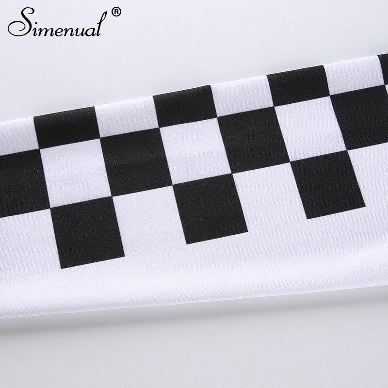 patchwork checkboard women t shirt (10)