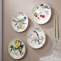 American retro casa decoración cerámica creativa decoración de la pared colgante de pared de la sala La pared colgante