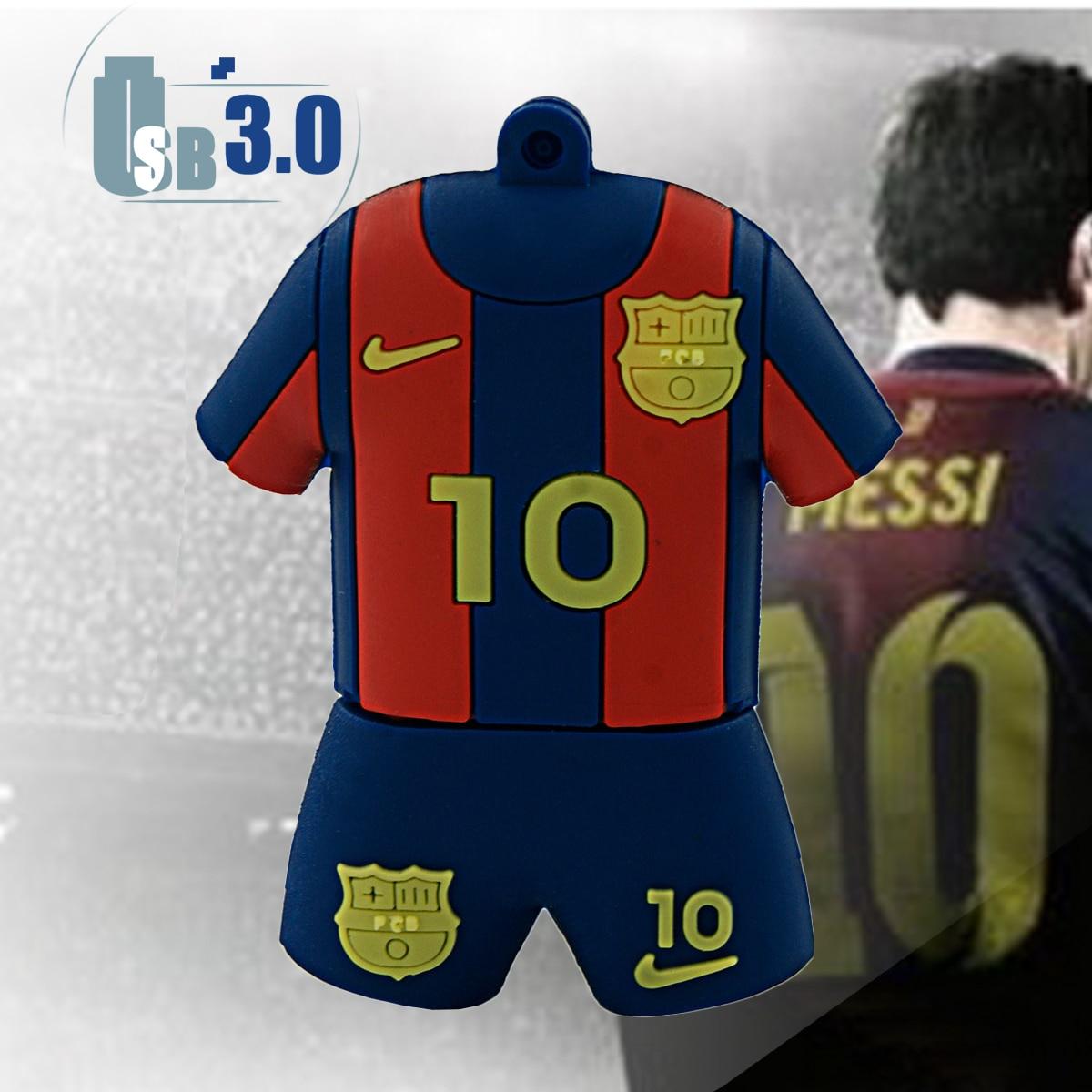 buy cartoon barcelona soccer jersey meissi pen drive 8gb 16gb 32gb 64gb maillot. Black Bedroom Furniture Sets. Home Design Ideas