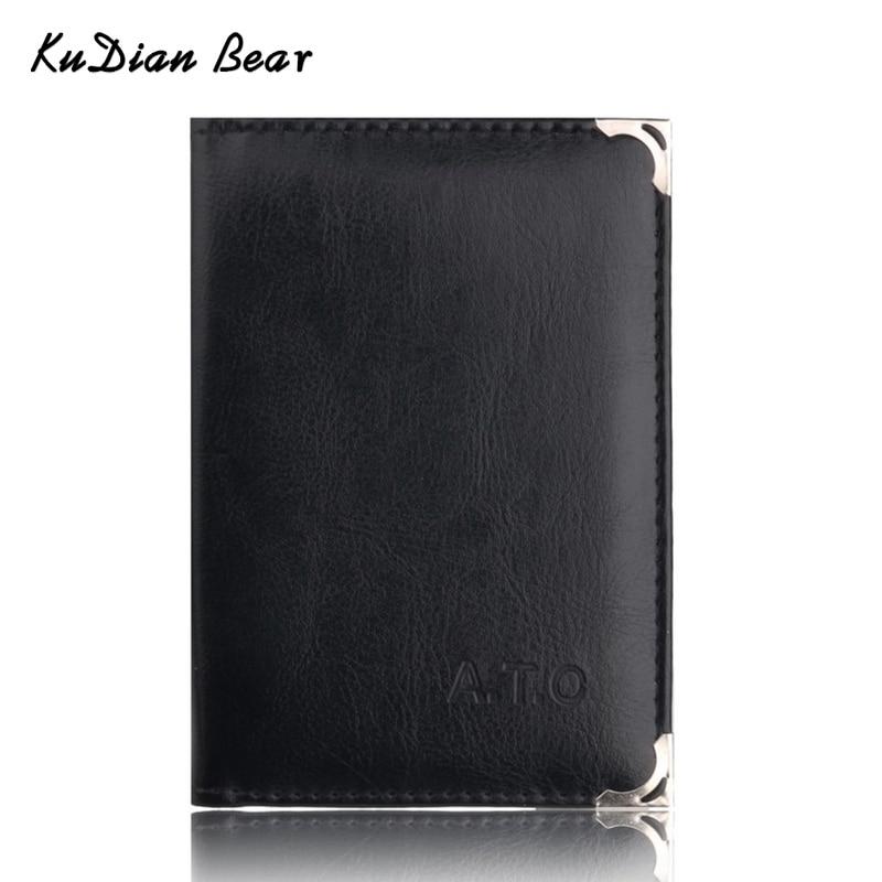 KUDIAN BEAR Brand Auto Driver License Holder Business Card Holder Car-Covers For Documents Designer Travel Wallets BIH067 PM49
