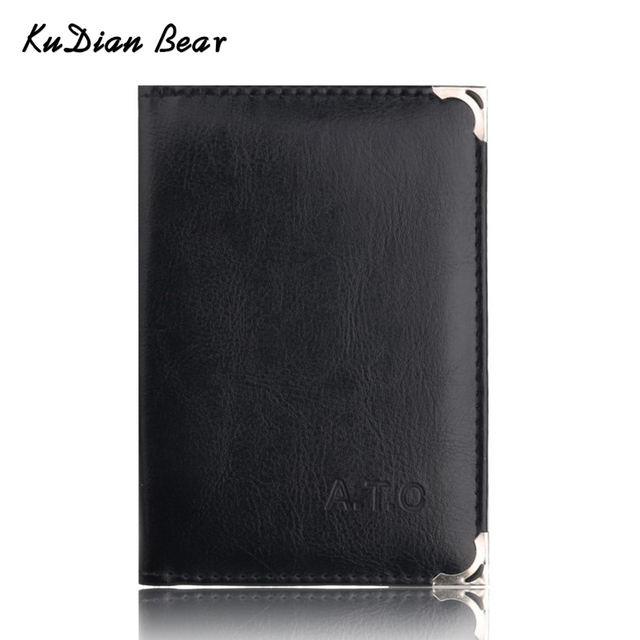 KUDIAN BEAR Brand Auto Driver license holder Business Card Holder Car-Covers for Documents Designer Travel Wallets BIH067 PM49