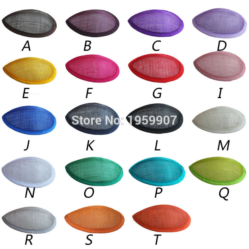 100 unids / lote personalizado Sinamay Teardrop Base Hat Form Base para Fascinator Headpiece Headwear