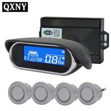 Car auto Parking parktronic Sensor 4 Kit Reversing radar LCD Display for all cars detector Voice beep alarm Digital distance