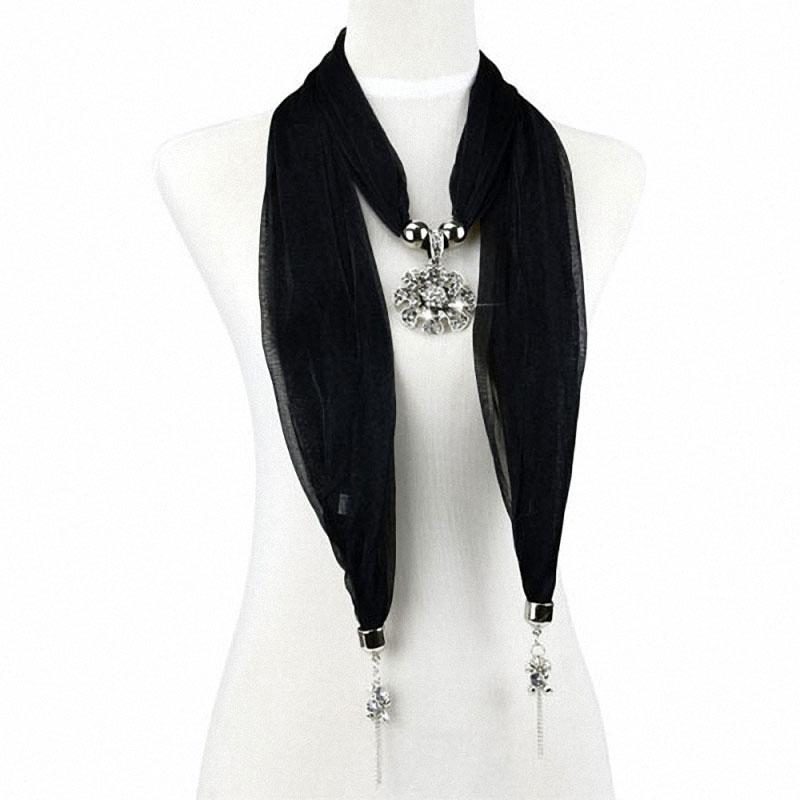 ᐂAoloshow moda joyería gasa primavera bufandas collar con piedra de ...