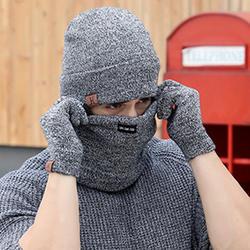 Nibesser 3 шт. вязаная шапка, перчатки и шарф набор для Для мужчин зимняя мода мягкий теплый Повседневное унисекс Кепки наборы шарфов подарок