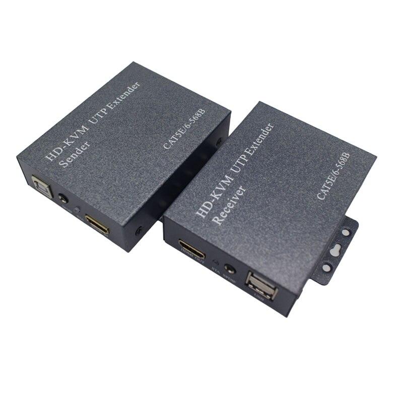 Extension Hdmi sur Ip/Tcp Utp/Stp Cat5/5E/6 réseau Lan Rj45 60Hz 1080 P 100 M Extension récepteur séparateur Hdmi (prise Eu)