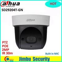 Dahua SD29204T GN мини камеры PTZ 2MP 1080 P ip камера ИК 30 м сети Скорость купол 4x оптический зум английский прошивки