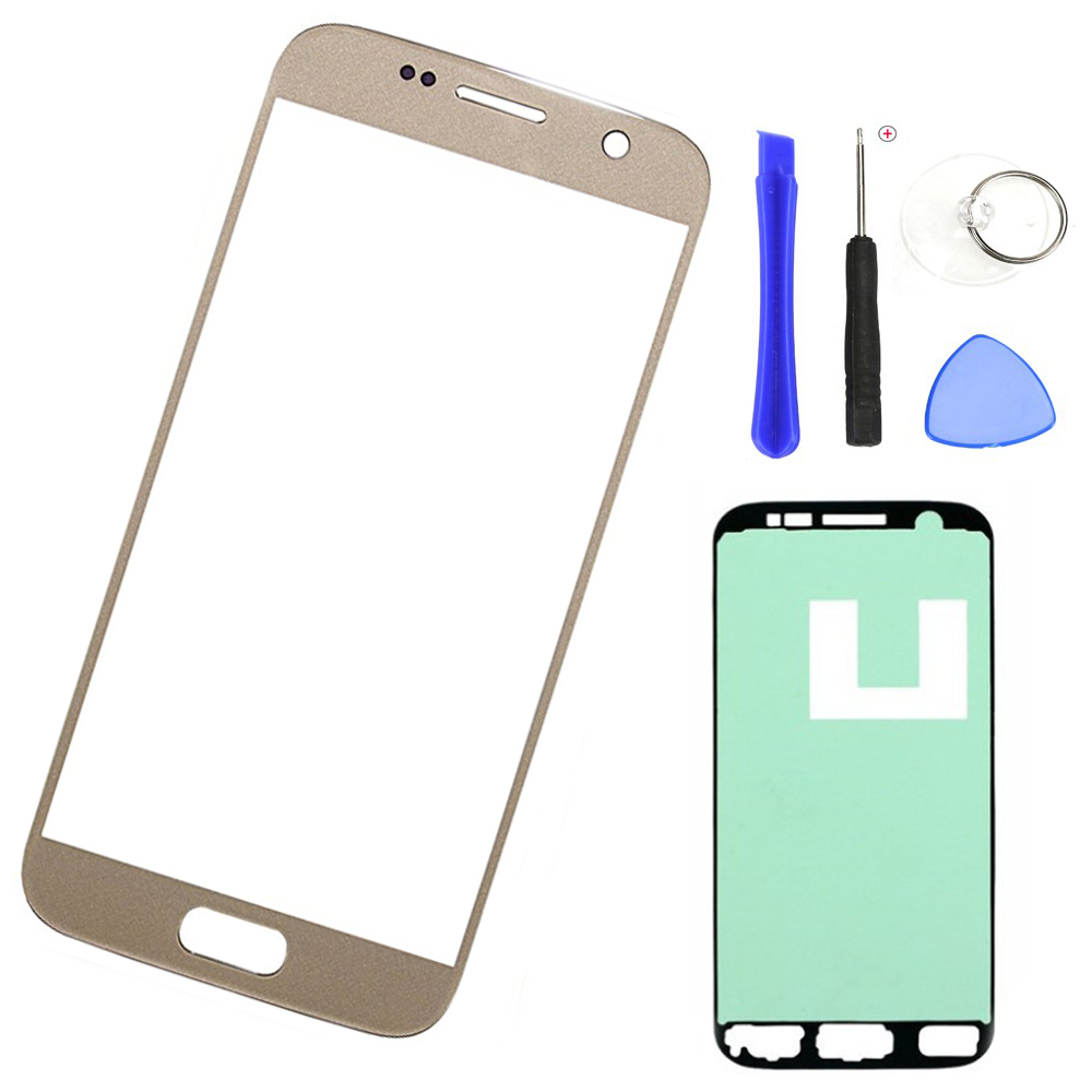 Replacement Outer Glass Lens For Samsung S7 G930 SM-G930F LCD Touch Screen Front Glass Outer Panel + Adhesive Tools