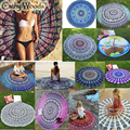 Indian Tapestry Wall Hanging Gypsy Bedspread Bohemian Round Toalha Mandala Beach Towel Throw Yoga Mats Outdoor Casual Beach Mats