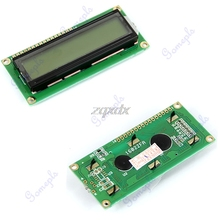1602 Display Character LCD Module 16×2 HD44780 Controller Yellow Green Backlight Z17 Drop ship