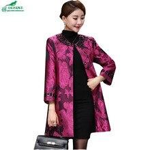 Autumn women clothing windbreaker elderly fashion large size casual jacket coat women new high end long
