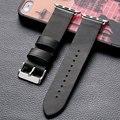 Высокое Качество Черный Кожаный 38 мм 42 мм Мужские Apple Watch Ремешок Спортивные на молнии Для iWatch Ремень