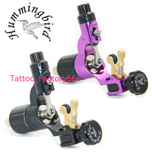 Pro 2 pcs Black&Purple Hummingbird V2 Original Swiss Motor Rotary Tattoo Machine Gun kit liner shader for cord
