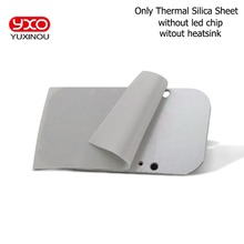 Теплопроводящие прокладки теплоотвод Теплоизоляционный Лист Кремния вязкий клей для чипа cpu GPU ram светодиодный IC охладитель светодиодный радиатор охлаждения