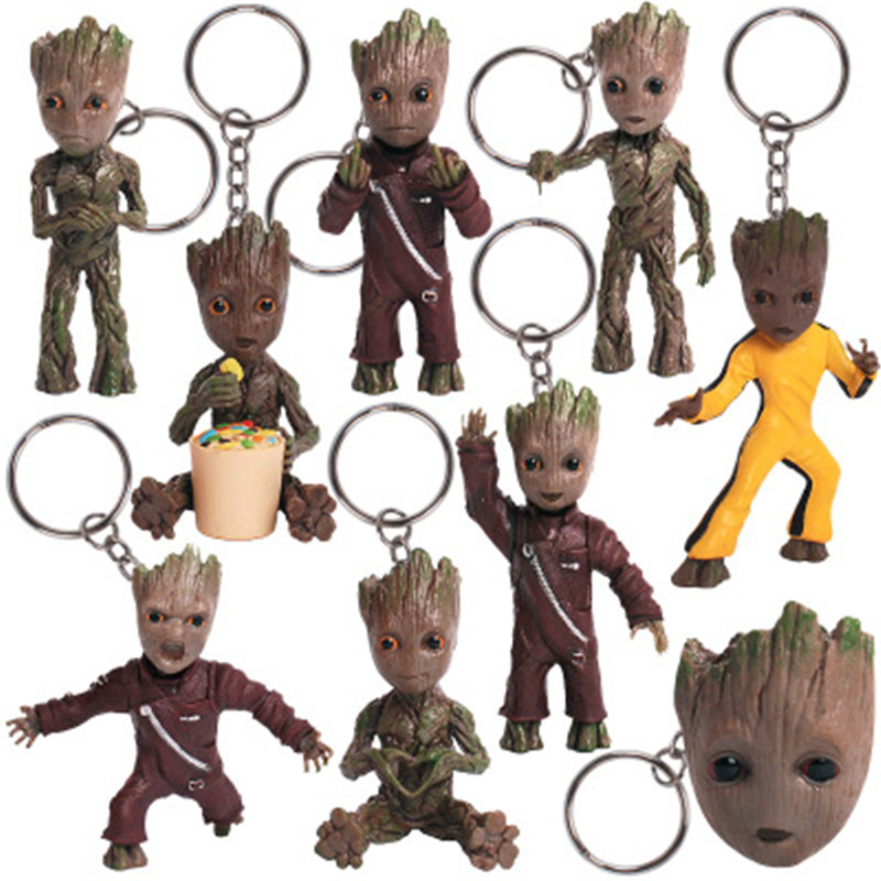 Guardians of Galaxy cosplay Vol 2 Man Figuras Brinquedos Keychain Key Bag Pendants Dolls