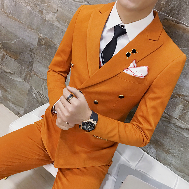 men Spring, summer, autumn and winter A suit fashion leisure coat Shirts are to be pants Etc.man Pure cotton Thin body Gift suit