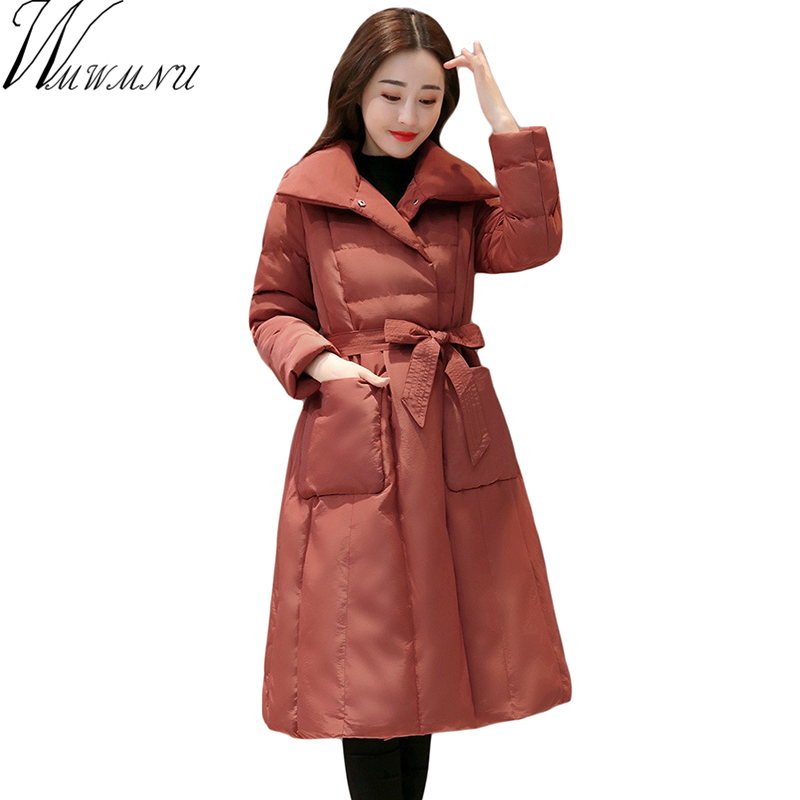 Wmwmnu winter jacket women 2017 High Quality Winter parka New luxury cotton Padded Coats Women long Coat thick Jacket