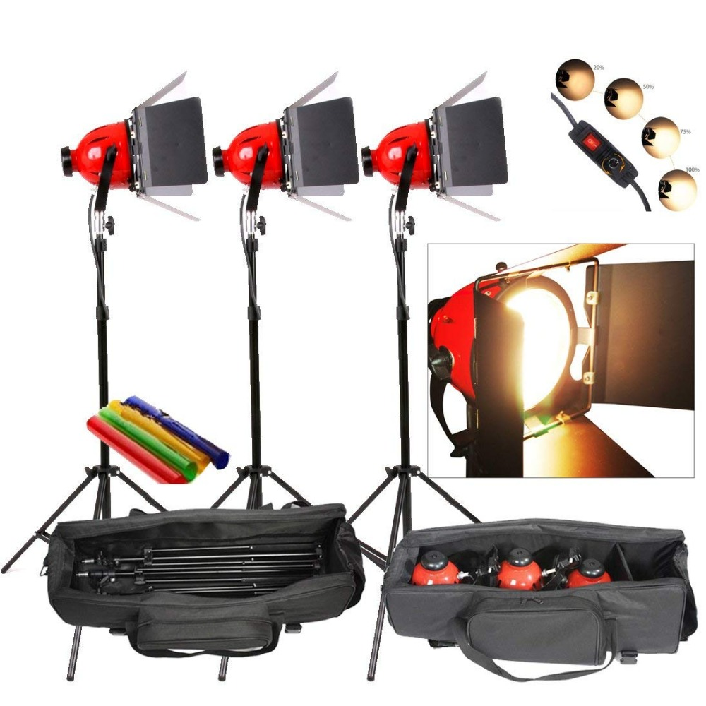 Photo Studio Video Redhead Red Head Light Lamp Continuous Lighting Kit DIMMER Built In Earthed  Cd50