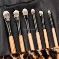5set Professional Makeup Brush Set tools Make-up Toiletry Kit Wool Brand Make Up Brush Set Case free shipping