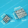 size 38*38mm square type crystal drawer pulls glossy shiny furniture kids knobs kitchen cabinet handles