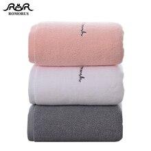 ROMORUS Premium Cotone Asciugamani Da Bagno per Adulti Dolce Lettere Ricamato Bagno Viso Asciugamano di Cotone di Spessore Asciugamani Regalo per Gli Amanti