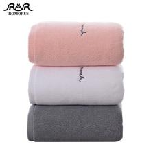 ROMORUS Премиум хлопковые полотенца для ванной комнаты для взрослых, милые вышитые буквы, банное полотенце для лица, толстые хлопковые подарочные полотенца для влюбленных