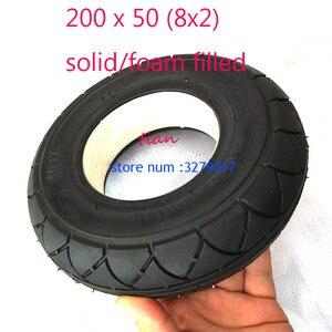 Image 3 - 2 ألوان 1 قطعة سكوتر متحرك الإطارات 200x50 (8x2) الصلبة/رغوة شغل 200x50 ل الحلاقة E100 E125 E200 سكوتر Vapo