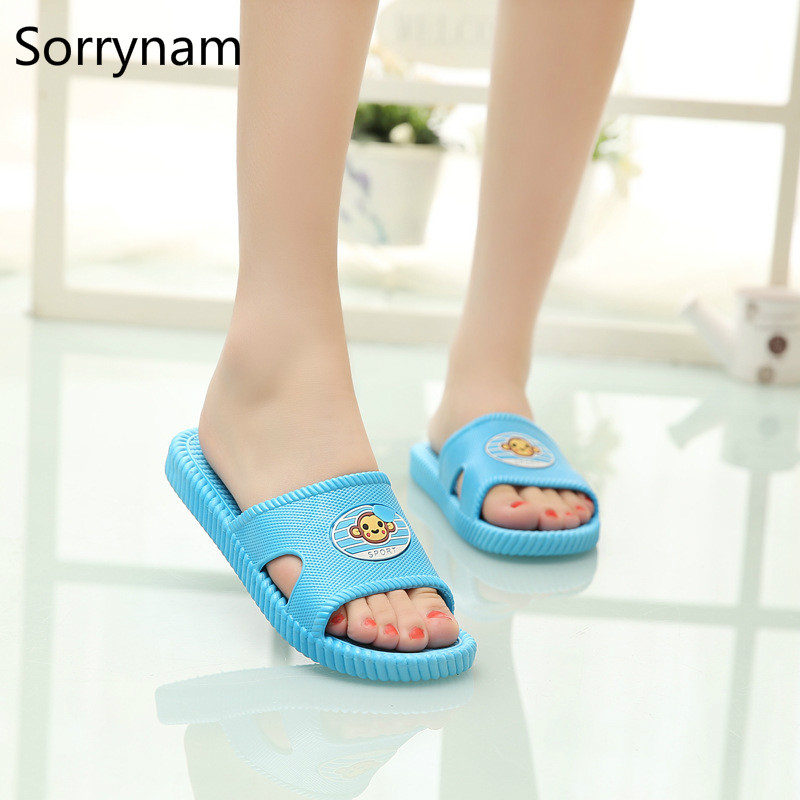 Cartoon Monkey Bathroom Slippers Slippery Wear Resisting Soft Cool Slippers Occupy The Home In