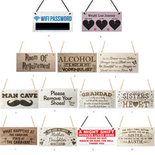 Rectangular Wooden Plaque Gift Pendant Tag Wooden Sign Vintage Home Decor  Sign Wooden Plaque Cool Plate