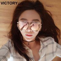 Brand Designer 2016 New Big Mirror Sunglasses Women Hexagon Super Lovers Hippie UV400 Pilot Hollow Out