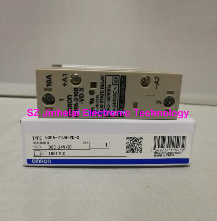 Authentic original G3PA-210B-VD-X OMRON Guide rail type solid state relay 10A 5-24VDC DC5-24V original solid state relay g3pa 210b vd