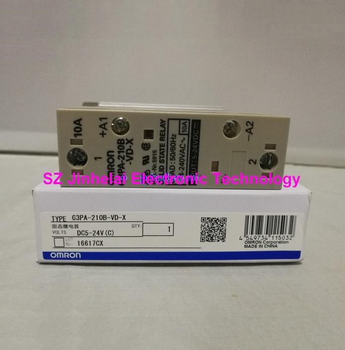 Authentic original G3PA-210B-VD-X OMRON Guide rail type solid state relay 10A 5-24VDC DC5-24V [zob] original g3pa 420b vd 200 400vac20a 12 24vdc solid state relay original authentic 2pcs lot